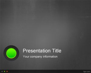 Indicator Lights PowerPoint Template PPT Template