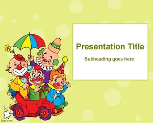 kids party powerpoint template ppt template