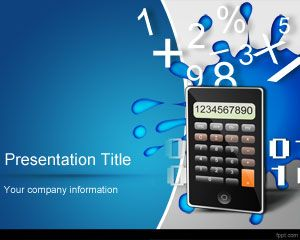 Math Numbers PowerPoint Template PPT Template