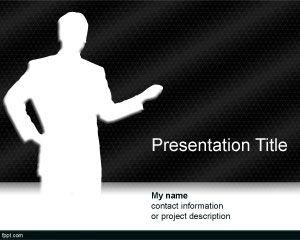 Plantilla PowerPoint de Moderador Gratis PPT Template