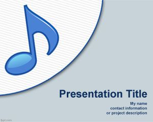 Online Musician PowerPoint template design with treble clef symbols