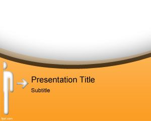 Orange box PowerPoint Template PPT Template