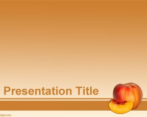 Peach PowerPoint Template PPT Template