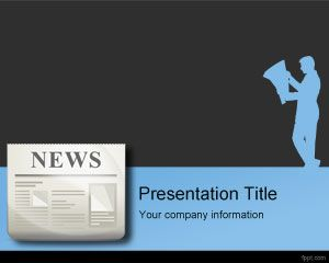 Press release powerpoint template