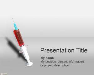 Syringe Powerpoint Template PPT Template