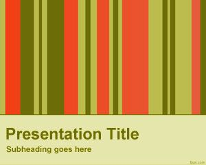 Vertical bars powerpoint template