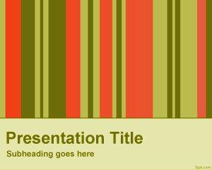 Vertical bars powerpoint template
