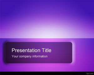 Violet Impressive PowerPoint Template PPT Template