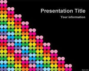 Color Dots PowerPoint Template PPT Template