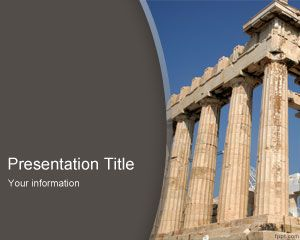 Plantilla PowerPoint de Partenón PPT Template