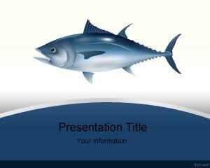 Plantilla PowerPoint de Pescado Atún