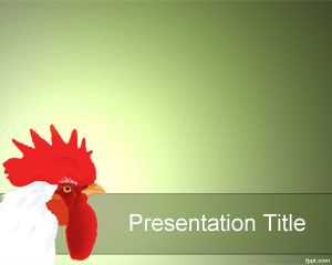 Plantilla PowerPoint de Gallo PPT Template