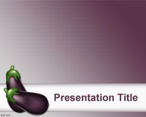 Plantilla PowerPoint de Berengena PPT Template