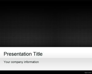 Black Grid PowerPoint Template PPT Template