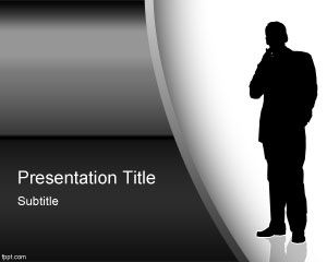 Business Silhouette PowerPoint Template