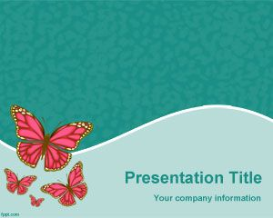 Butterflies Species PowerPoint Template