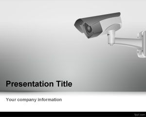 CCTV Camera PowerPoint Template PPT Template