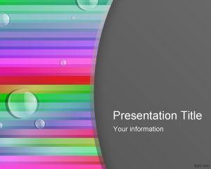 flash powerpoint presentation templates - color lines powerpoint template ppt template