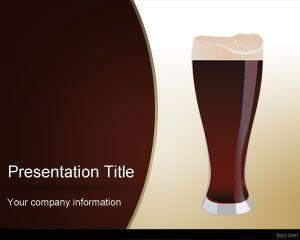 fondos de diapositivas PPT para presentaciones de alimentos y bebidas cerveza
