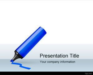 Design Marker PowerPoint Template