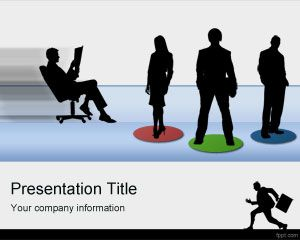 Employees PowerPoint Template work employee job position