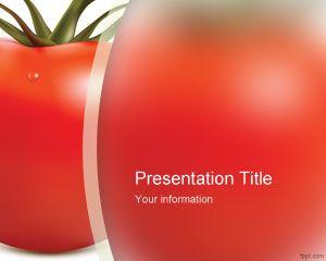 Plantilla PowerPoint de Tomate Template