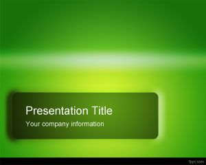 Green Glossy PowerPoint Template PPT Template