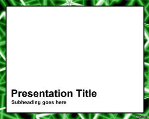 Green Rods Frame PowerPoint Template PPT Template