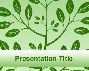 Green Tree PowerPoint Template PPT Template