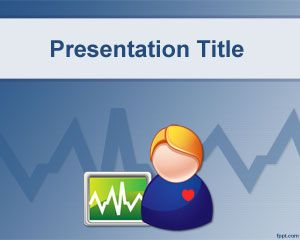 Health Monitor PowerPoint Template PPT Template