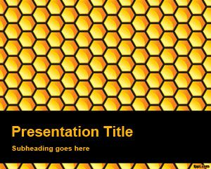 This is a Honeycomb background with yellow and black color for PowerPoint presentationsn using texture and for free download