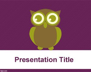 Owl illustration and template for PowerPoint
