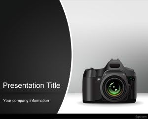 Photo Camera PowerPoint Template PPT Template