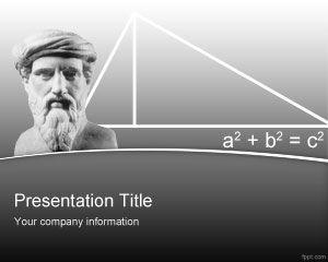 Plantilla PowerPoint de Pitágoras