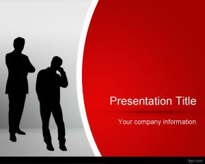 Link toRed business powerpoint template