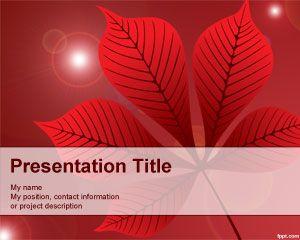 Plantilla PowerPoint con Flores Rojas PPT Template
