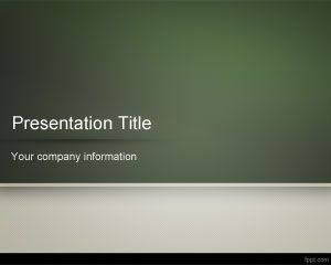 School Blackboard PowerPoint Template
