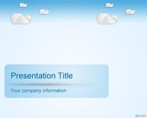 Sky Clouds PowerPoint Template PPT Template