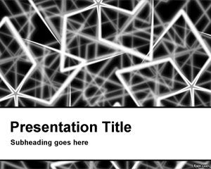 Steel Rods PowerPoint Template PPT Template