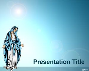 Virgin Mary PowerPoint Template