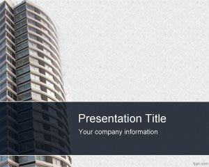 Apartment Buildings PowerPoint Template PPT Template