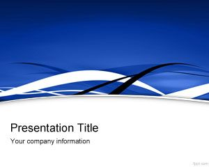 Blue Fringe PowerPoint Template PPT Template