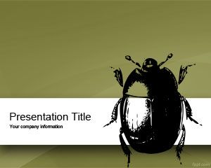 Plantilla PowerPoint de Insecto PPT Template