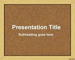 Plantilla PowerPoint de Tablón de Anuncios