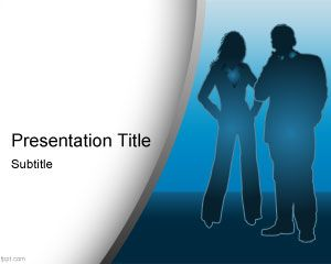 Link toBusiness scene powerpoint template