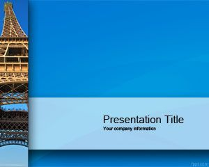 Eiffel Tower PowerPoint Template