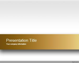 Plantilla PowerPoint Atractiva de color Dorado
