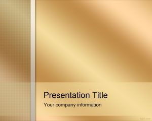 Golden PowerPoint Template