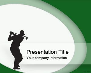 Golf Swing PowerPoint Template