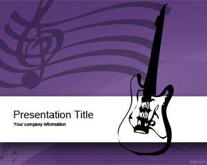 Plantilla PowerPoint de Equipo de Música